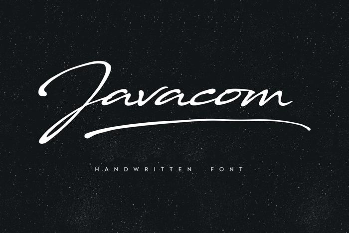 javacom-script-font