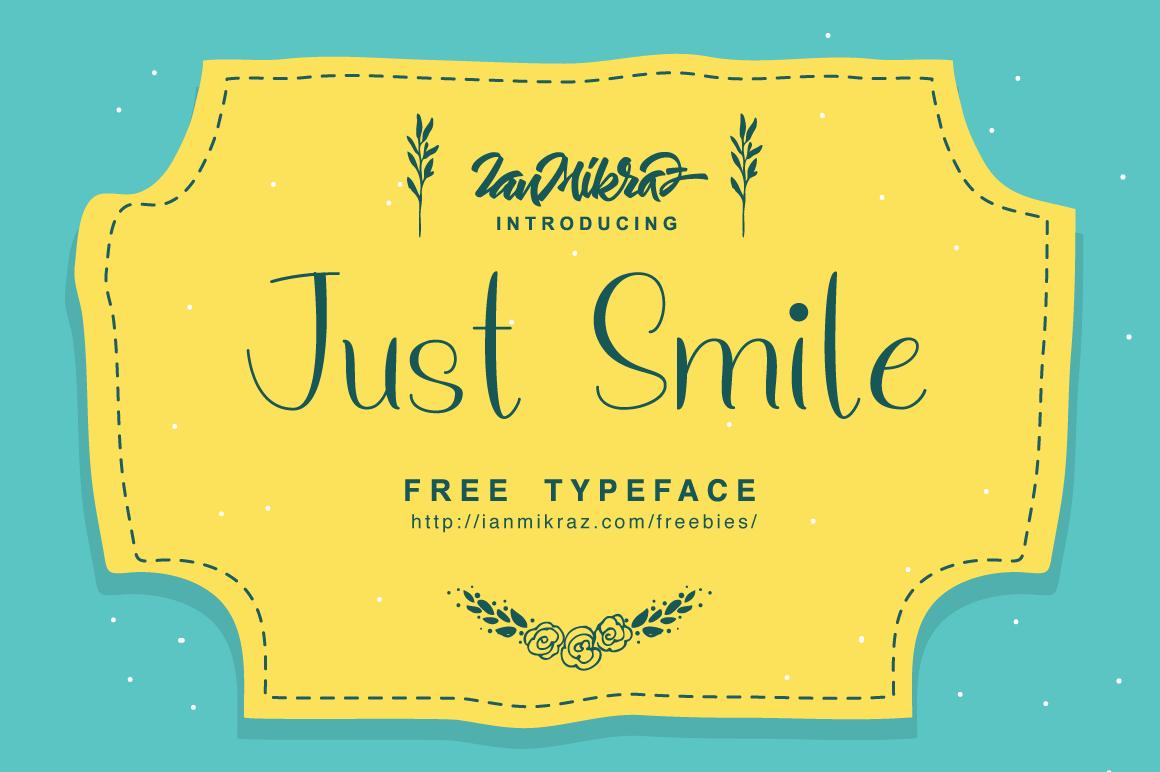 just-smile-typefacejust-smile-free-typefacejust-smile-font