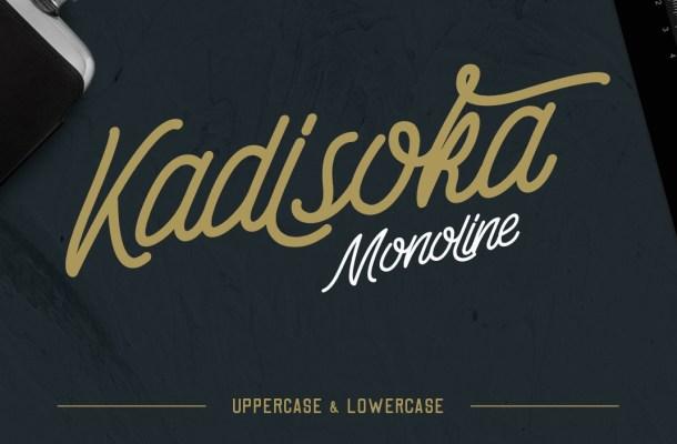 Kadisoka Monoline Font Free