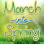 March into Spring Font Free