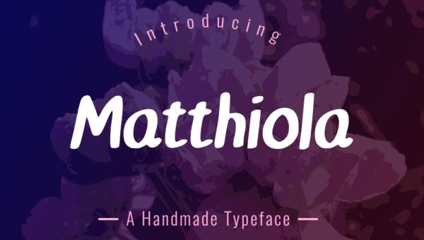 Matthiola Typeface Free