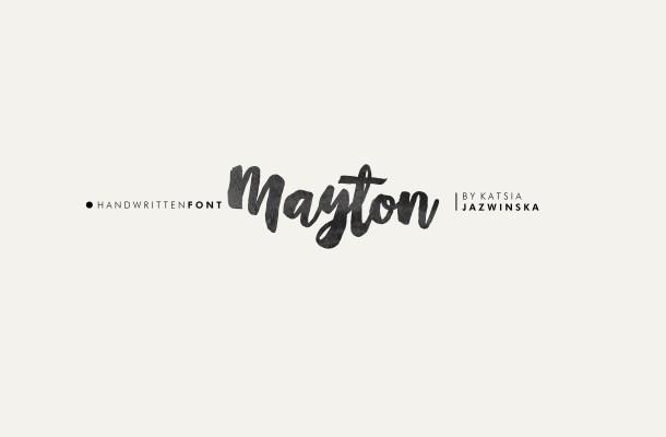 Mayton Brush Script Font Free