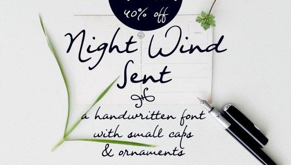 Night Wind Sent Sample Font Free