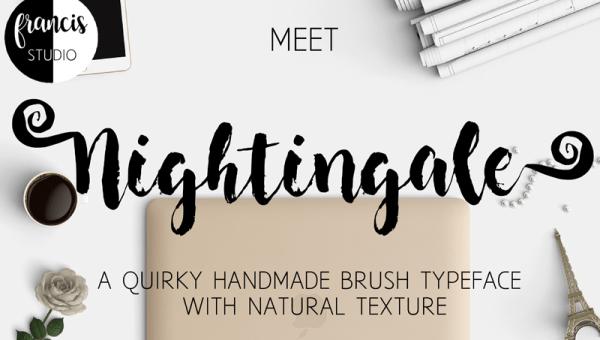 Nightingale Brush Font Free