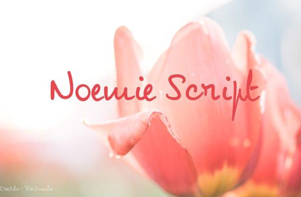 Noemie Script Font Free