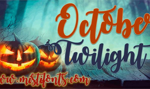 October Twilight Font Free