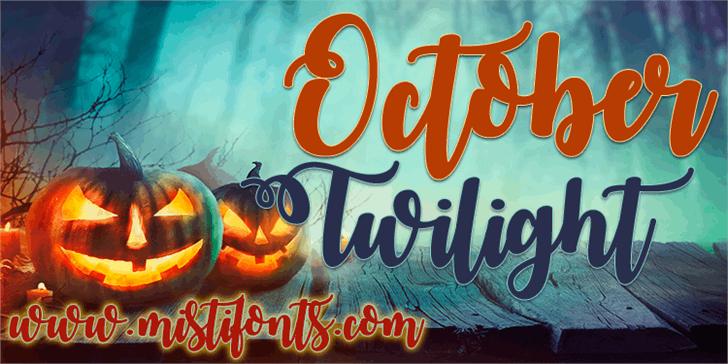 october-twilight-font
