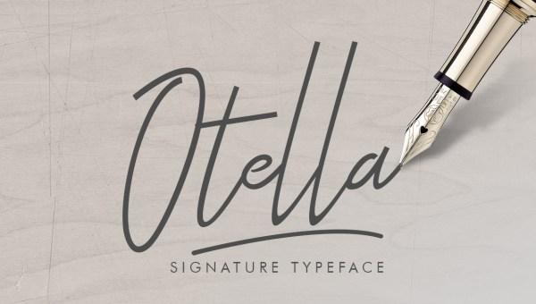 Otella Signature Font Free