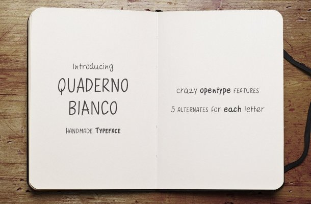 Quaderno Bianco Font Family