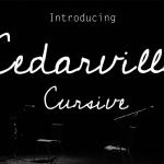 Cedarville Cursive Font Free