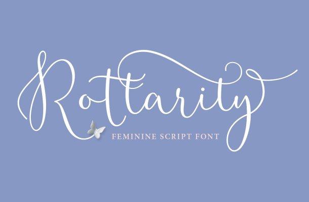 Rottarity Feminine Script Font Free