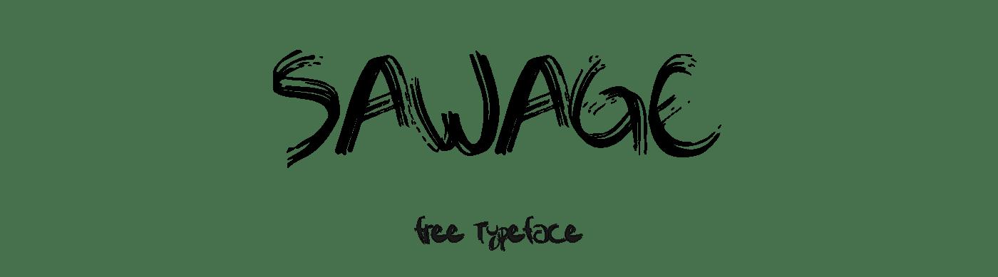 sawage-brush-font