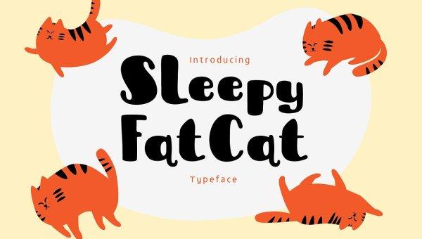 Sleepy Fat Cat Typeface Free