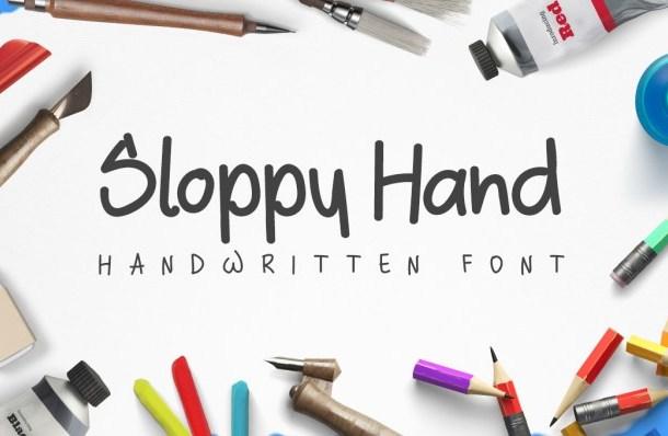 Sloppy Hand Font Free