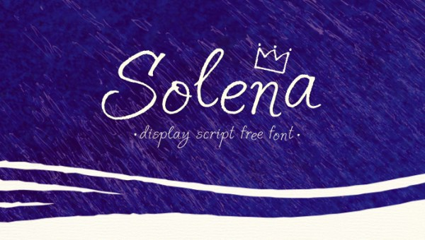 Solena Script Font Free