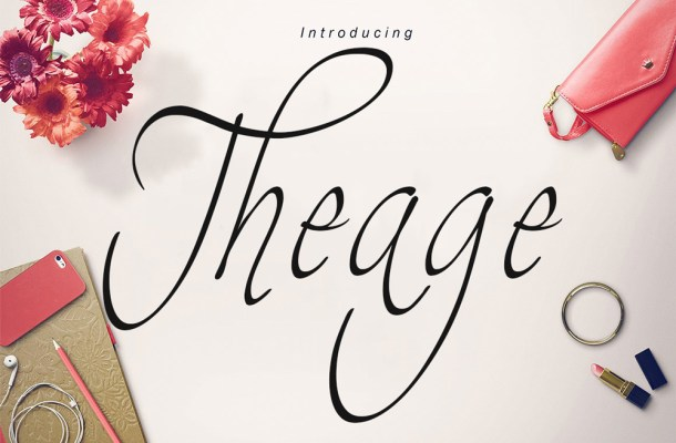 Theage Script Font Free