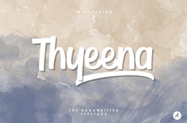 Thyeena Handwritten Font Free