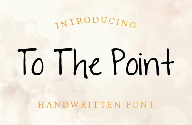 To The Point Font Free