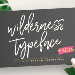 Wilderness Brush Font Free