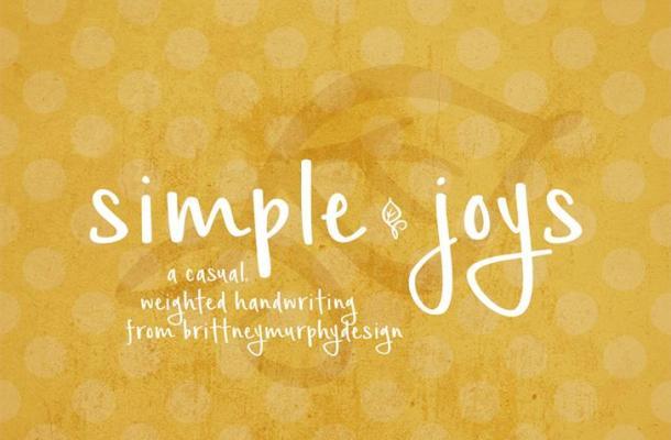 Simple Joys Font Free