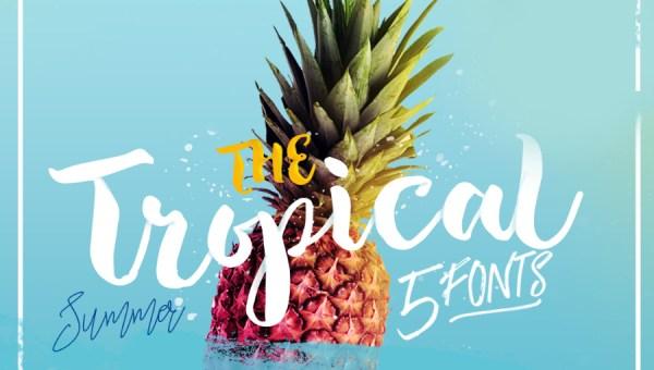 The Tropical Script Font Free