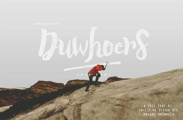 Duwhoers Brush Font Free