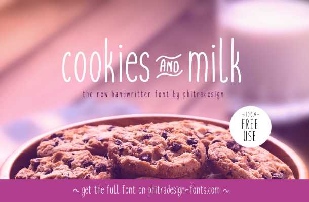 Cookies and milk Font Free