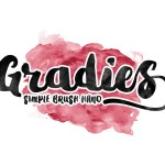 Gradies Brush Font Free