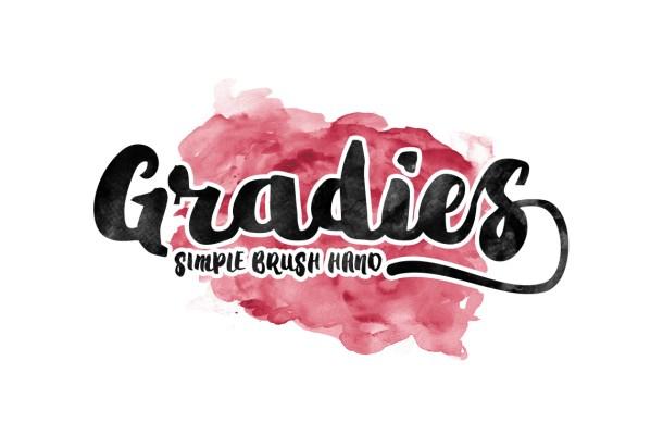 Gradies Brush Font Free