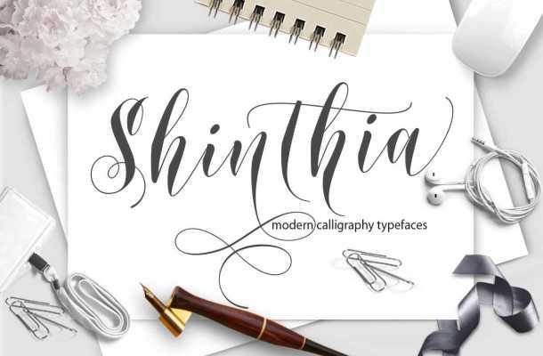 Shinthia Script Font Free