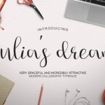 Julia's Dream script Font Free