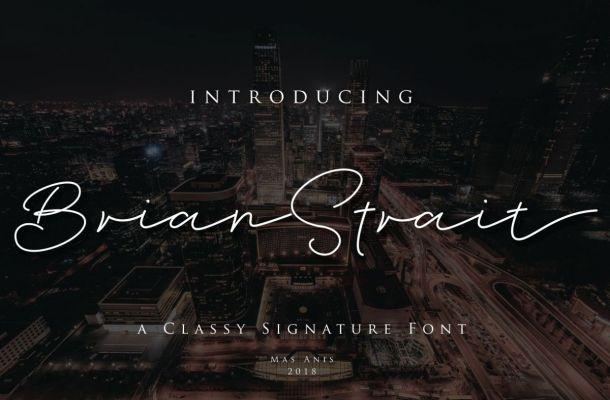 Brian Strait Font Free Download