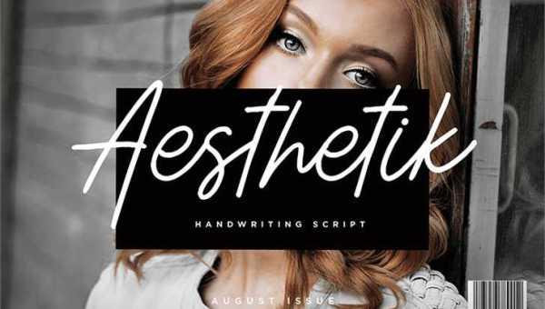 Aesthetik Handwriting Font Free