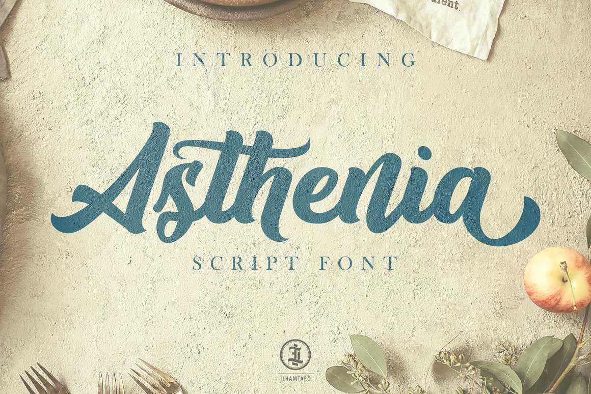 asthenia-script-font