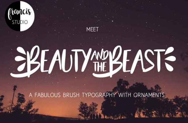 Beauty and the Beast Font Free Download