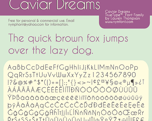 Caviar Dreams Font Family Free Download