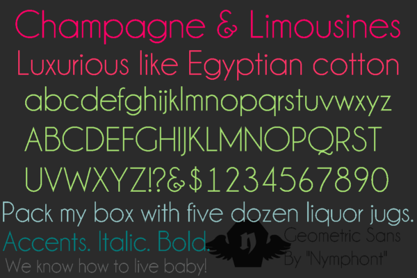 Champagne & Limousines Font Family Free Download