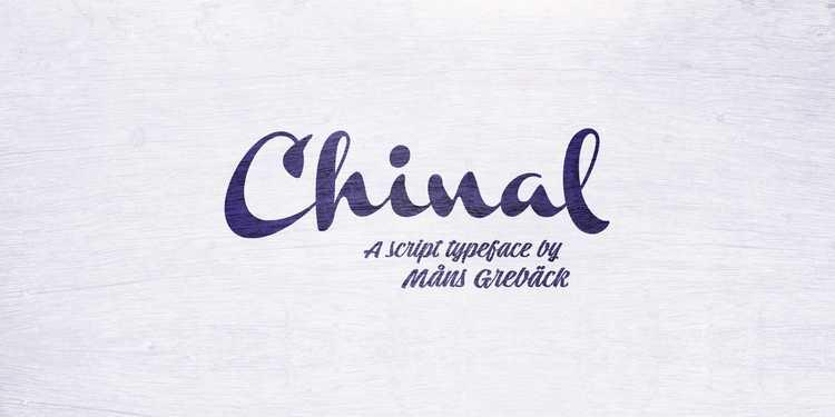 chinal-script-font