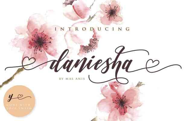 Daniesha Script Font Free Download