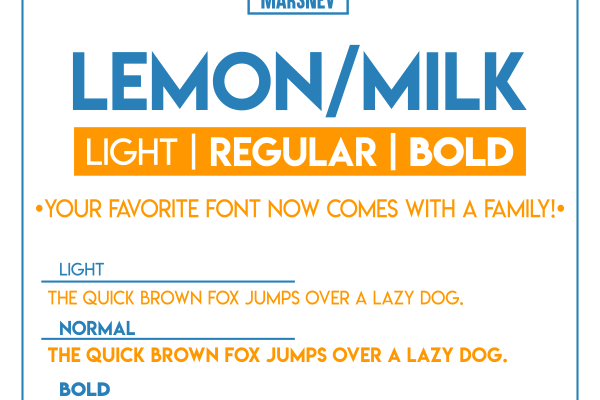 Lemon/Milk Font Family Free Download