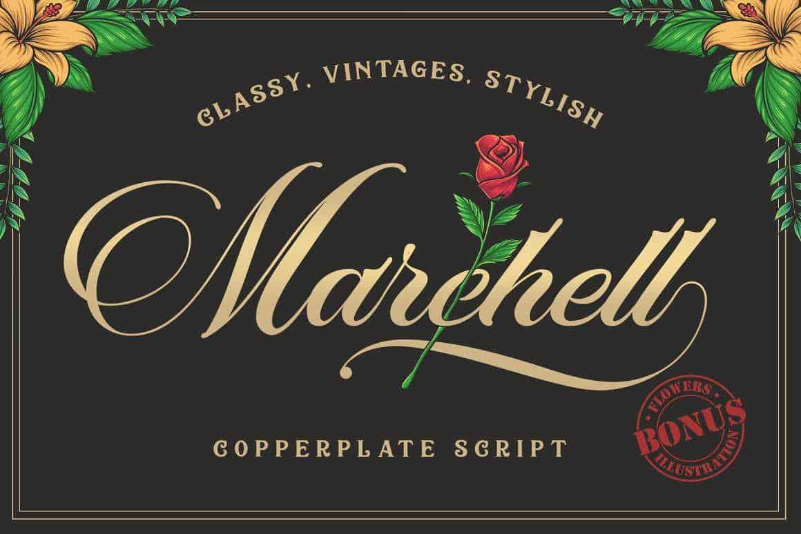 Marchell Script Font Free - Dafont Free