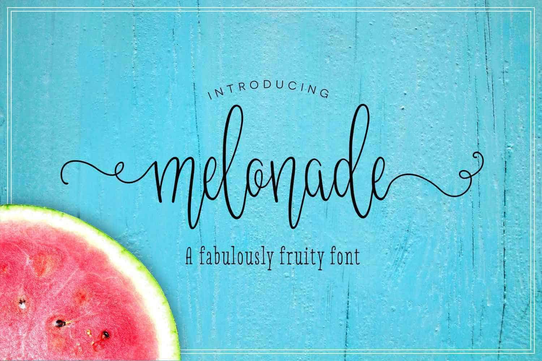melonade-script-font