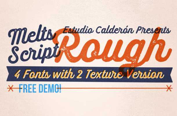 Melts Script Rough Font Family