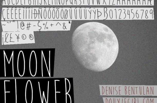Moon Flower Font Free Download