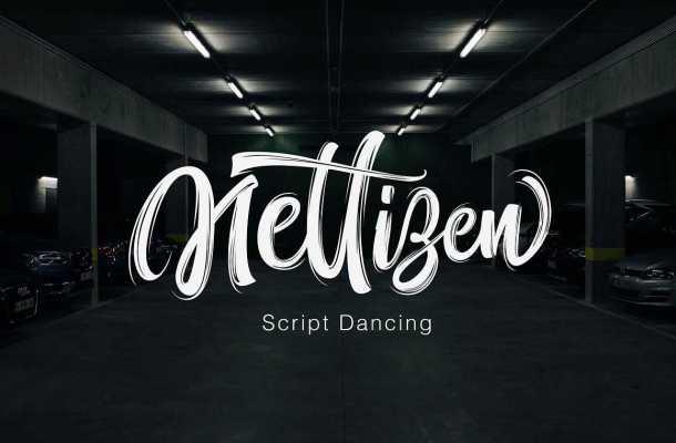 Nettizen Script Font Free