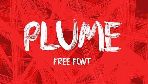 Plume Brush Font Free
