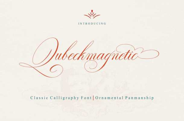 Qubeckmagnetic Script Font Free