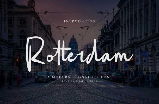 Rotterdam Script Font Free Download