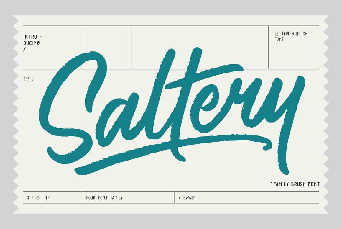 saltery-brush-font