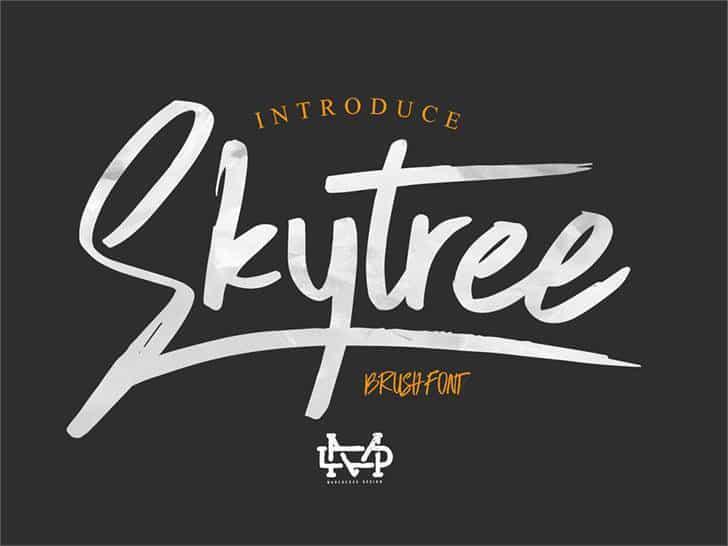 skytree-script-brush-font